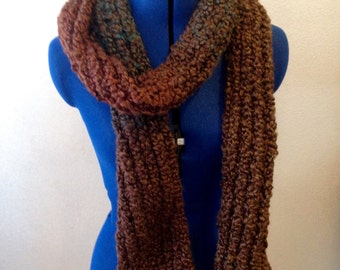 Chocolate with Teal Flecks Scarf