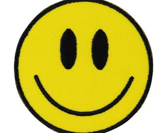 Kalan Smiley Face Iron-On Patch Happy Craft Decoration DIY Sew Project Applique