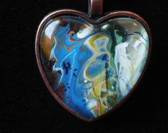 Gorgeous Handmade heart pendant with necklace