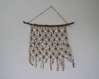 Natural Jute Twine Wall Hanging