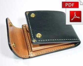Wallet pattern Leather pattern Leather wallet pattern Purse Patter Leather template Leather PDF Leathercraft DIY