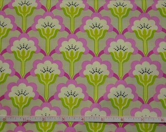 Pink & Gray Pop Blossom by Heather Bailey 100% Cotton Quilt Fabric by True Colors / Fabric by the yard / Heather Bailey Fabric / Cotton