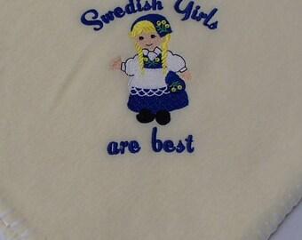 Finnish Norwegian Swedish Girls are Best Fleece Baby Blanket
