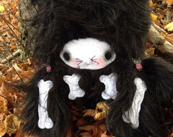 Plush Kitty Doll, Halloween Cat Plush, Kawaii Halloween Cat, Black Kitty Plush, Skeleton Kitty Plush, Black Cat Teddy, Black Kitty teddy