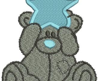 teddy bear  Machine Embroidery Design