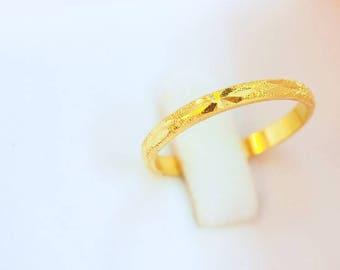 24k solid gold ring Etsy