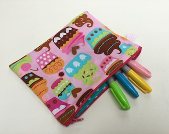 Cupcake Zippy Make-up Cosmetic Bag Pencil Case
