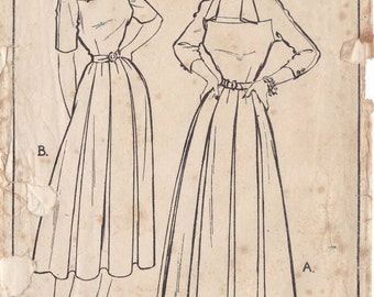 50s dress sewing pattern, Style 4868, Bust 34 inches, vintage sewing patterns.