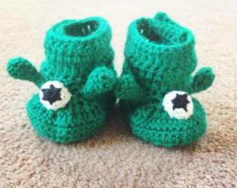 Custom Made crochet Alien slippers