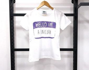 Hello, im a unicorn design womens t shirts. New season womens t shirts.
