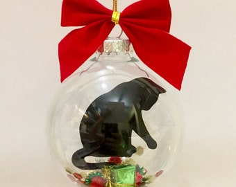 cat christmas ornament black cat christmas ornament cat memorial ornament