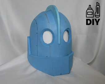 DIY Iron Giant helmet template for EVA foam