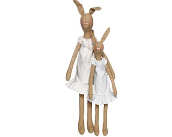 Mother and daughter TILDA rabbit doll Kit