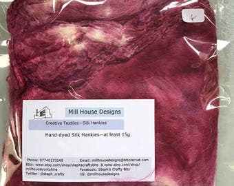 Hand-dyed Silk Hankies