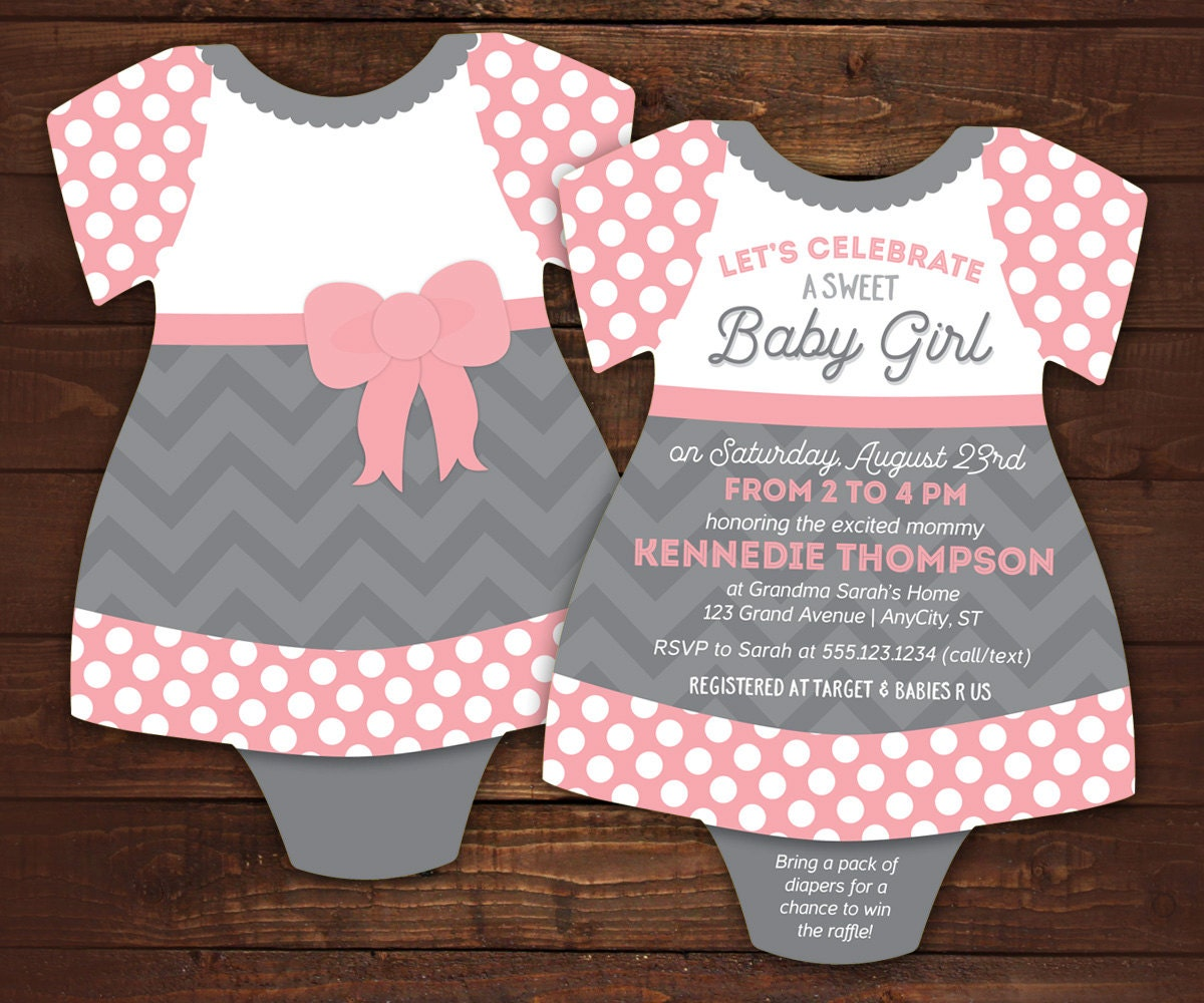 Little lady baby shower invitations bodysuit invitations zoom filmwisefo Gallery