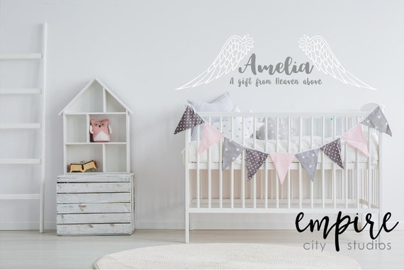 Angel Wings with Custom Name-A Gift from Heaven Above