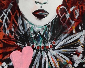 Woman Art Woman Painting Woman Beauty Portrait Painting Portrait Fine Art Portrait Wall Art Portrait Original Painting Home Decor Art
