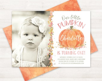 Little pumpkin first birthday invitation little pumpkin photo pumpkin first birthday invitation little pumpkin invitations little pumpkin turning one invitation printable birthday invitations filmwisefo