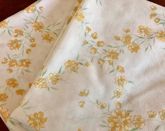 pair of pillowcass vintage retro floral yellow flower power boho
