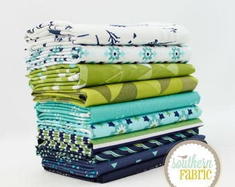 "Neptune - Fat Quarter Bundle - 10 - 18""x21"" Cuts - for Southern Fabric"