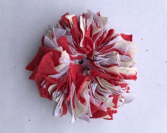 Cotton Scrunchie- R/W/Cream