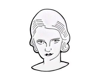 Bette Davis enamel lapel pin