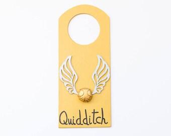Harry Potter door hanger quidicht gold snitch