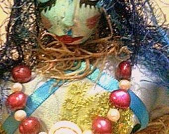 Serena The Sea Muse - Spirit Doll/Art Doll/ Altar Doll