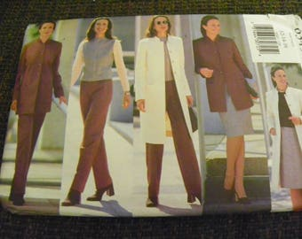 Sewing Pattern - Butterick Fast & Easy 6345 - Misses'/Misses Petite Jacket, Vest, Skirt, And Pants - Size 12 - 14 - 16