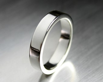 Mens Silver Ring, Thick Silver Ring, Wide Silver Ring, Mens Wedding Rings