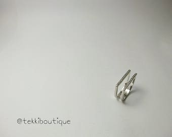 Double Square ring with Zirconias