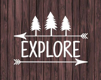 Explore Decal, Adventure Decal, Camping Decal, Travel Decal, Car Decal, Car Window Decal, Vinyl Sticker, Laptop Decal