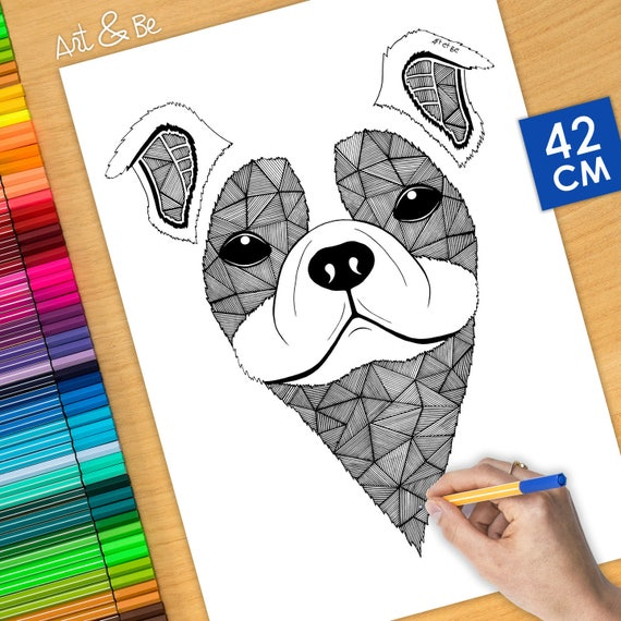 COLORING Poster - DOG - 1...
