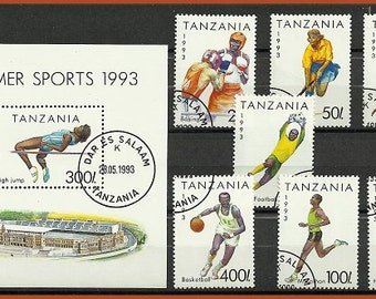 Summer sports 1993, postage stamps from Tanzania
