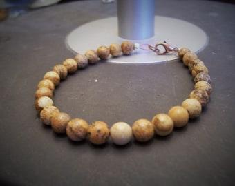 Handmade Natural Gemstone Jasper Bracelet