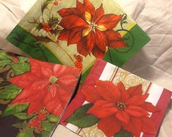 Poinsettia Napkin Set