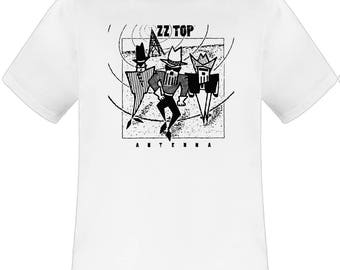 ZZ Top Antenna white t shirt