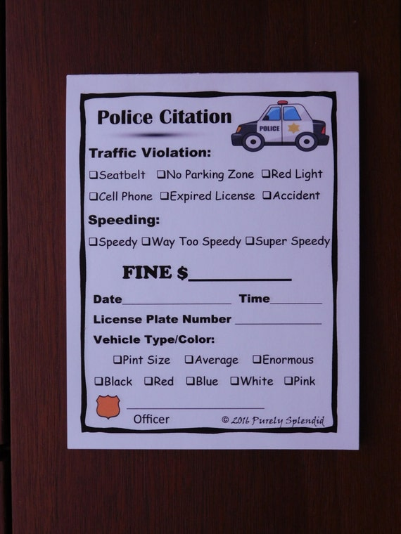 speeding ticket template