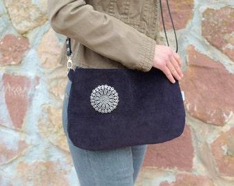 Black handbag,black clutch,black purse bag,zipper black bag,black purse,crossbody bag,crossbody messenger,autumn colors,gifts for her