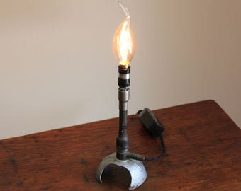Science industrial lamp Bunsen burner gift steampunk chemistry biology upcycled decor cool vintage laboratory science Edison bulb apothecary