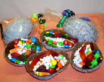 Chocolate Brains edible chocolate box filled with m and m's