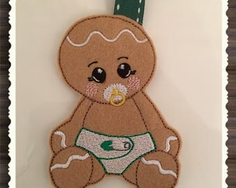 NNC ITH Gingerbread Baby Boy for the 4x4 hoop in all popular format