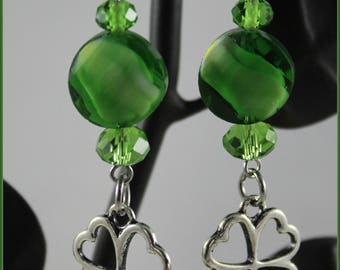 4 Leaf Clover Shamrock Earrings