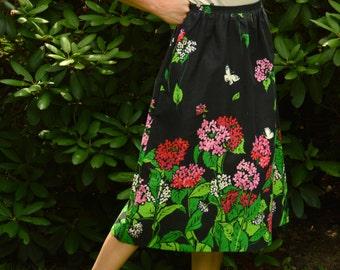 80s Skirt Vintage Tumbleweed Floral Skirt S to M