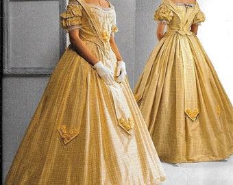 Simplicity 2881 Civil War Dress UNCUT Costume Sewing Pattern Plus Size 16, 18, 20, 22, 24 Southern Belle