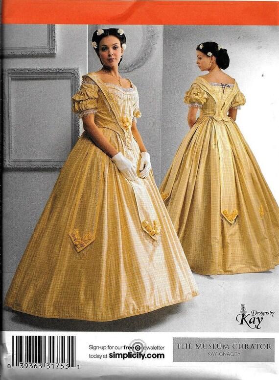 Simplicity 2881 Civil War Dress UNCUT Costume Sewing Pattern