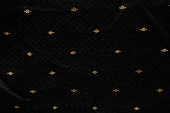 Black and Gold Upholstery Fabric - Woven Gold Diamond Fabric ...