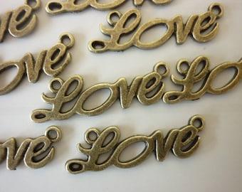 love 4 connectors bronze