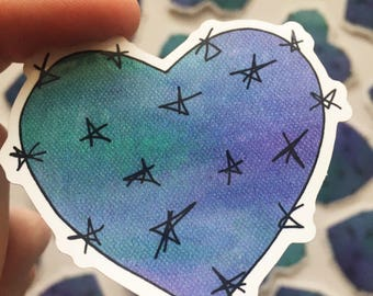 Desert Heart Stickers