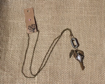 Vintage Key Necklace with Vintage Elements